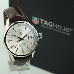 Tag Heuer War2011.fc6291 Carrera Calibre 7 Twin Time Gmt Stainless Steel Watch