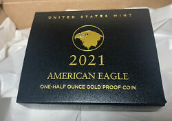 2021 American Eagle One-half 1/2 Ounce Gold Proof Coin 21ecnandnbspships Today