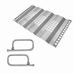 Kalomo Stainless Steel Grill Heat Plates Shield Heat Tent Burner Cover, Gas