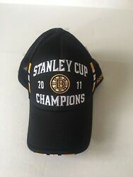 Boston Bruins 2011 Stanley Cup Champions Hat Reebok Center Ice Collection Osfm