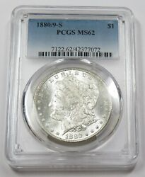 1880/9-s Pcgs Ms62 Mint State Silver Morgan Dollar 1 Us Coins Item 29045a