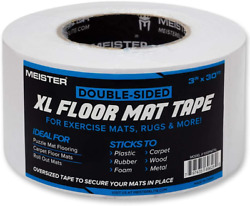 Meister Double-sided Xl Floor Mat Tape - Secures Exercise Mats And Rugs In Place