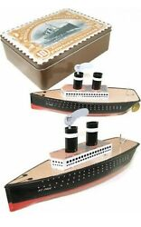 Schylling St.paul Ocean Liner W Stand Postal Collection Commemorative Tin Toy
