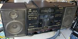 Vintage Jvc Pc-x1000 Boombox 6 Cd And Double Cassette Player Recorder Works Rare