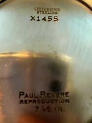 Reeds And Barton Sterling X1455 Paul Revere Reproduction 7.5 Inch Bowl