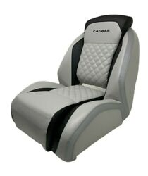 Attwood Helm / Captains Seat Caymas Bass Boat Black Gray Silver 47430-lg-02