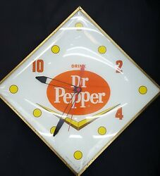 Vintage Pam Diamond Shaped Drink Dr. Pepper Wall Clock