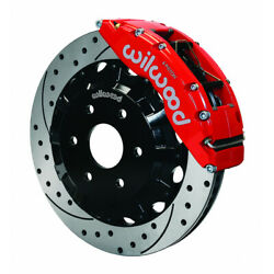 Wilwood For Gm Truck/suv 1500 1999-2014 Tc6r Brake Kit Front 16.00in Drilled Red