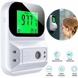 Usa Fast Wall Mount Digital Infrared Thermometer Automatic Non Contact Forehead