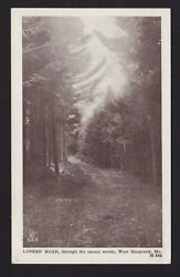 Old Vintage Postcard Lovers Road Through Spruce Woods West Harpswell Me Maine