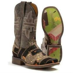 Women's Tin Haul Furrlicious Boots With Farm And Ranch Sole Handcrafted Brown