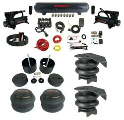 Complete Air Ride Suspension Kit W/manifold Valve And Bags Fits 1988-98 Chevy C15