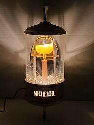 Vintage 1982 Michelob Beer Crystal Light Wall Sconce, Lighted Sign