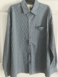 The Territory Ahead Striped Southwest Long Sleeve Button Up Shirt Mens Large