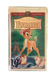 Bambi Vhs 55th Anniversary Limited Edition Masterpiece Stock No 9505 Very Rare