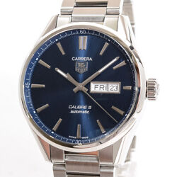 Tag Heuer Carrera Caliber 5 Day Date War201e.ba0723 Mens Watches Stainless/b...