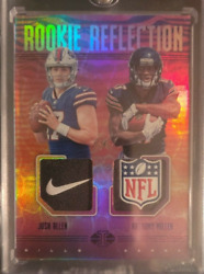 2018-19 Illusions Football Josh Allen Rookie Dual Relic 1/1 Anthony Miller