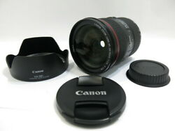 [beauty] Canon Ef24-70mm F2.8lc Usm Ew-88c Hooded Canon [tube Kp282]