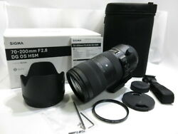 [beauty Product With Filter] Sigma Sports 70-200mm F2.8 Dg Os Hsm Filter Hood