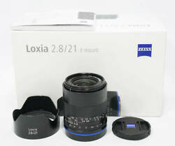 Carl Zeiss Loxia 2.8 / 21 Sony E-mount Loxia 21mm F2.8 With Box