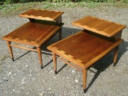 Two Beautiful Vintage Lane Mid-century Modern Side/end Tables