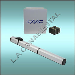 Faac S450h Automatic Hydraulic 24v Residential Swing Gate Opener Single Kit.