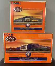 🔥 Case Xx Lionel Train Pocket Knife Set Only 1000 Made Two Box Set