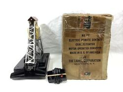 Lionel 97 Silver Coal Loader With Controller And Box