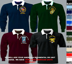 633 To M Us American Army Navy Air Force Marines Seals Short Sleeve Rugby Shirt