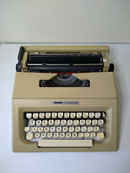 Vintage Olivetti Lettera 25 Portable Typewriter Tested Works Comes W/ New Ribbon