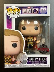 In Hand Funko Pop Marvel What If Party Thor 877 Special Edition Exclusive