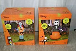 Gemmy Nightmare Before Christmas Jack On Pumpkin 3.5ft Sally Inflatable Set New