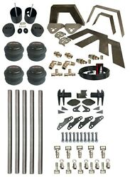 Parallel 4 Link Weld On Notch Air Brackets And Bags Kit Fits 99-06 Silverado 1500