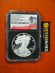 2017 S Proof Silver Eagle Ngc Pf70 Ultra Cameo Fr From Congratulations Set