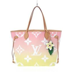 Auth Louis Vuitton Neverfull Mm M45680 Rose Clair By The Pool Ar0261 Tote Bag