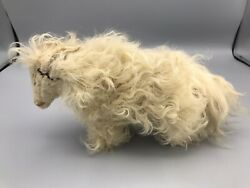 Antique Hand Made And Sewn Wool Ram/big Horn Sheep Figurine Toy