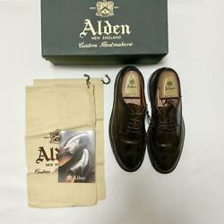 Alden Cigar Cordovan Long Wing Men's Leather Shoes Size 8.5d Model 97896 Used