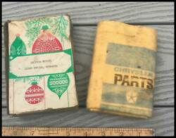 Vintage Mopar Parts Polishing Cloth 1970and039s Chrysler Plymouth Dodge Truck 1960and039s