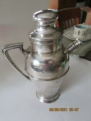 Apollo Bernard Riceand039s Sons Inc. E.p.n.s. Hammered Silver Plate Cocktail Shaker