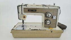Sears Kenmore Model 158.17033 Vintage Sewing Machine Heavy Duty With Cover