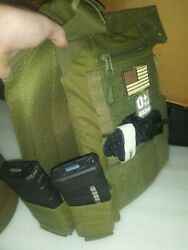 Low-profile Gray Plate Carrier Fast 3a Helmet And 2 Ceramic Lvl 3+ Plates