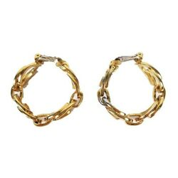 Old 1991 Earrings Accessories Chain Plated Gold / ☆ L73 Womenand039s 210626
