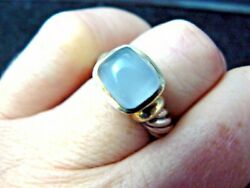 David Yurman Reteired Chalcedony Noblesse Ring In Original Pouch