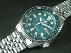 Seiko Skx013 Mod 'hulk' Nh36 Water Proof Tested Jr./medium Size A1 Condition
