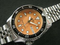 Seiko Skx013 Mod Orange Dial Nh36 Water Proof Tested Jr./medium A1 Condition