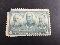 U.s, Stamp,1937, Sampson,dewy And Schley, Grey/blue Colour, 4 Cent