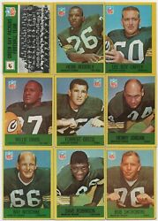 1967 Green Bay Packers Complete Team Set Starr Nitschke Wood Adderly Robinson +