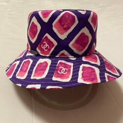 Used No Box Very Rare Hat Size 57 Cube Coco Mark Pink Cute