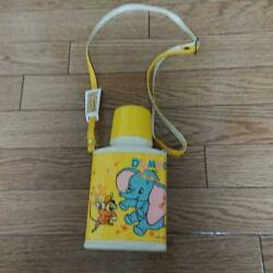 Vintage Dumbo Water Bottle Thermos By Zojirushi Japan Lunchbox Disney 1970s Rare