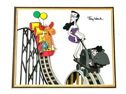 Animation Cel Of Rocky And Bullwinkle W/ Boris And Natasha 1980's Signed By Jay Ward
